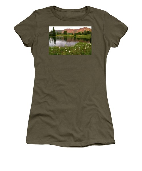 Women's T-Shirt (Junior Cut) featuring the photograph Paradise Basin by Steve Stuller