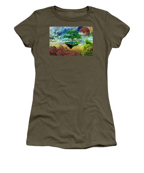 Paradise Island Women's T-Shirt (Junior Cut) by Ally White