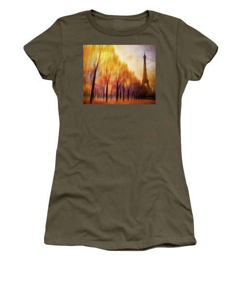 Paris In Autumn Women's T-Shirt (Athletic Fit)