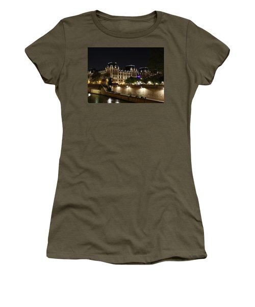 Women's T-Shirt (Junior Cut) featuring the photograph Paris Police Headquarters by Andrew Fare