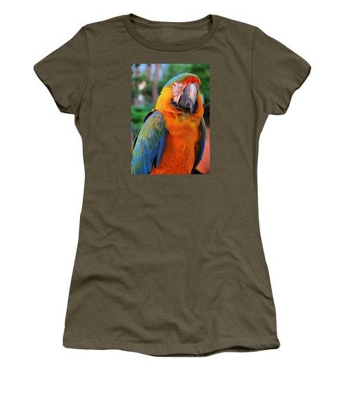 Parrot 3 Women's T-Shirt (Athletic Fit)