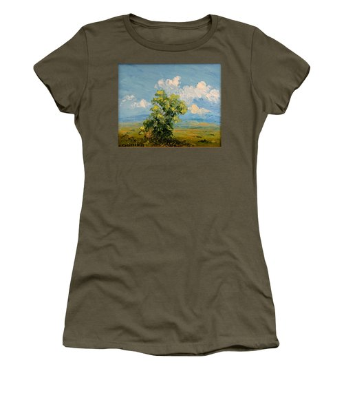 Passing Clouds Women's T-Shirt (Athletic Fit)