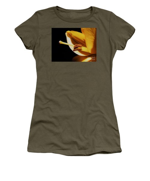 Passionate Yellow Lily Women's T-Shirt (Athletic Fit)