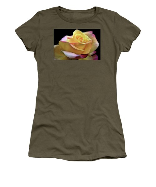Pastel Yellow Rose Canvas Proofed Women's T-Shirt