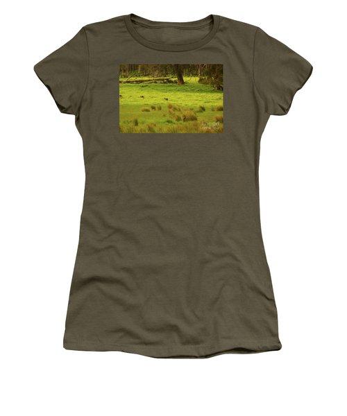 Pasture In Boranup Women's T-Shirt (Junior Cut) by Cassandra Buckley