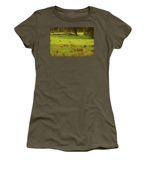 Pasture In Boranup Women's T-Shirt (Athletic Fit)