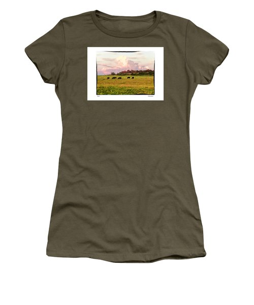Women's T-Shirt (Junior Cut) featuring the photograph Pasture by R Thomas Berner