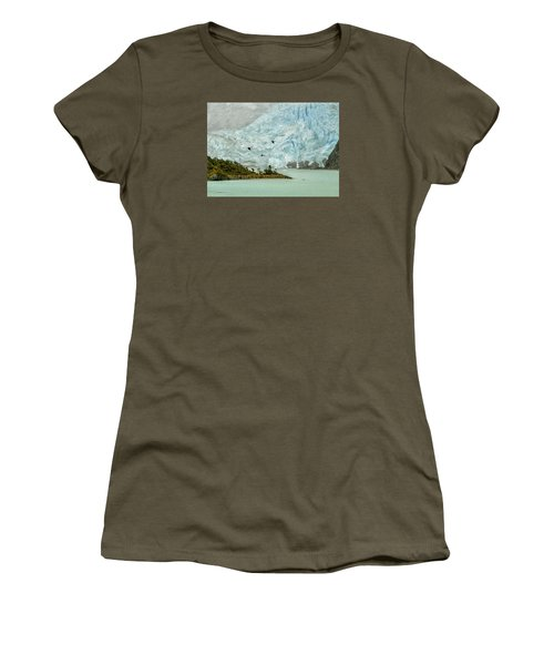 Women's T-Shirt (Junior Cut) featuring the photograph Patagonia Glacier by Alan Toepfer