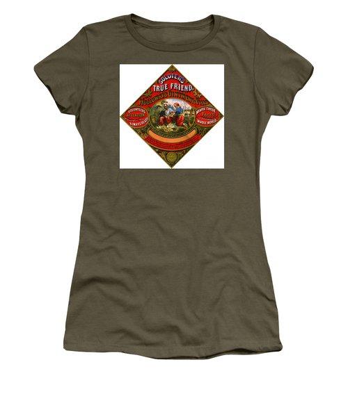 Women's T-Shirt (Junior Cut) featuring the photograph Patent Medicine Label 1862 by Padre Art