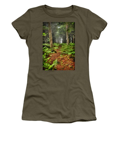 Path In The Ferns Women's T-Shirt