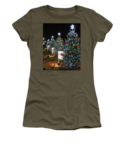Women's T-Shirt (Junior Cut) featuring the photograph Pathway Of Peace by Suzanne Stout