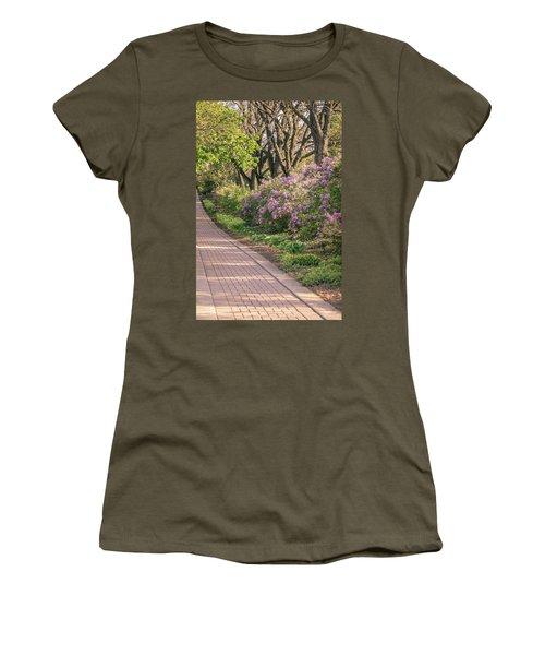 Pathway To Beauty In Lombard Women's T-Shirt (Junior Cut) by Joni Eskridge