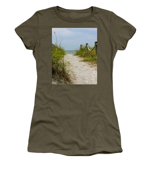 Pathway To The Beach Women's T-Shirt (Junior Cut) by Carol  Bradley