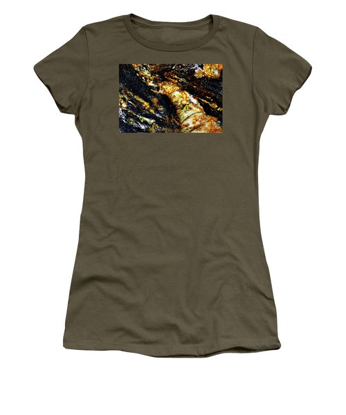 Women's T-Shirt (Junior Cut) featuring the photograph Patterns In Stone - 190 by Paul W Faust - Impressions of Light