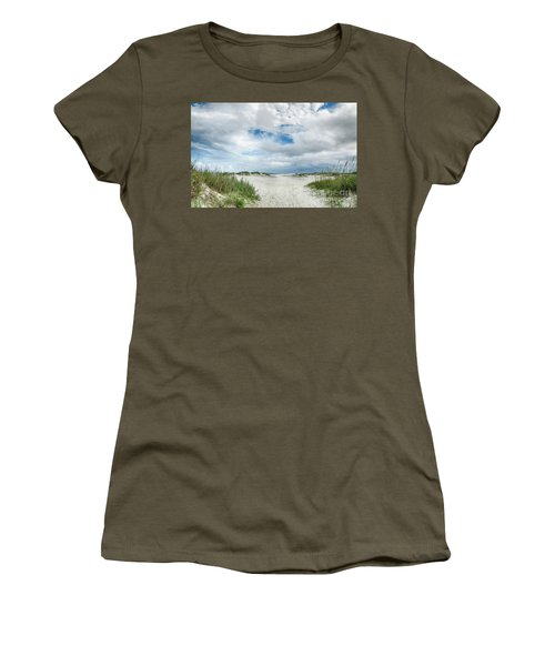 Pawleys Island  Women's T-Shirt (Junior Cut) by Kathy Baccari