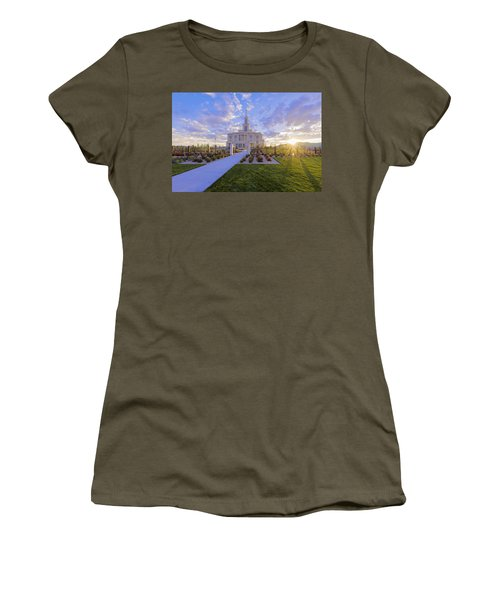 Women's T-Shirt (Junior Cut) featuring the photograph Payson Temple I by Chad Dutson