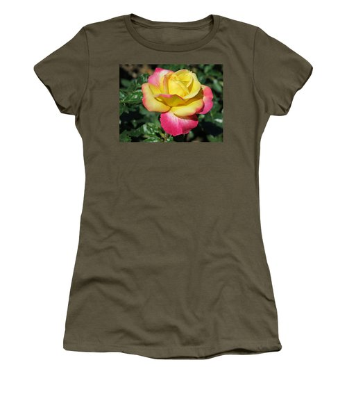 Peace And Love Rose Women's T-Shirt (Junior Cut) by Betty Buller Whitehead