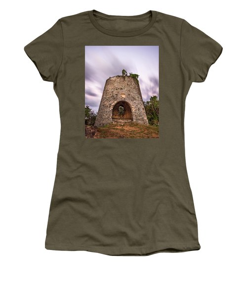 Women's T-Shirt (Junior Cut) featuring the photograph Peace Hill Sugar Mill by Adam Romanowicz