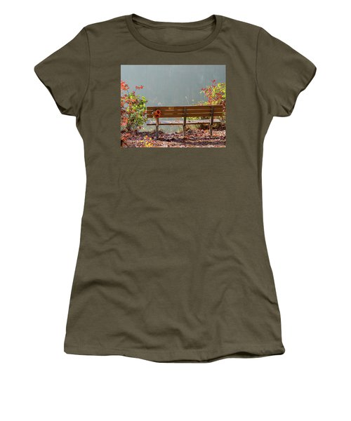Peaceful Bench Women's T-Shirt (Junior Cut) by George Randy Bass