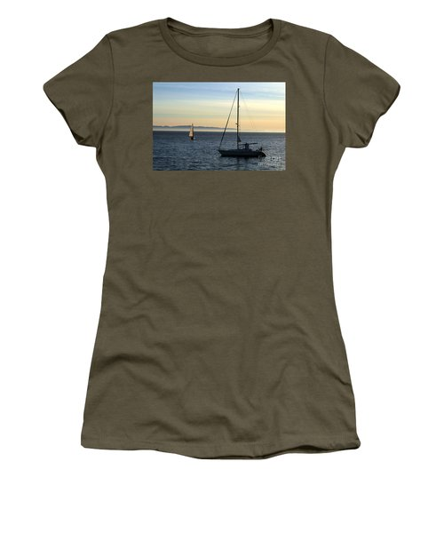 Peaceful Day In Santa Barbara Women's T-Shirt (Athletic Fit)