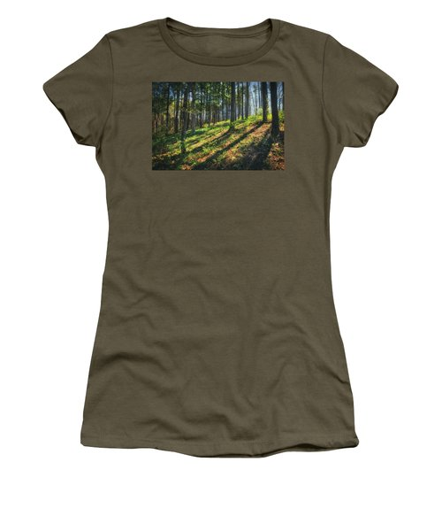 Peaceful Forest 4 - Spring At Retzer Nature Center Women's T-Shirt (Junior Cut) by Jennifer Rondinelli Reilly - Fine Art Photography