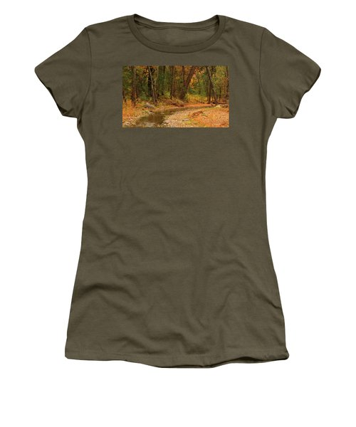 Women's T-Shirt (Junior Cut) featuring the photograph Peaceful Stream by Roena King