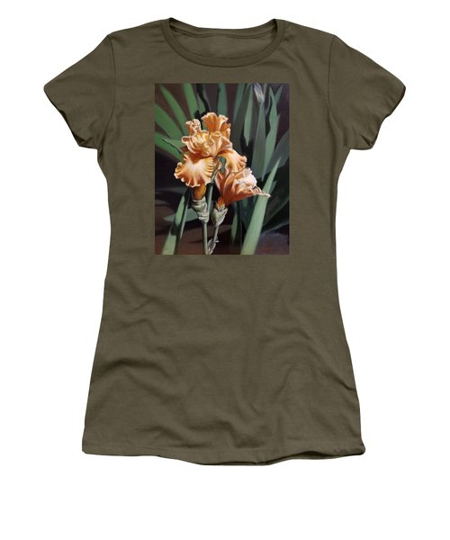 Peach Iris Women's T-Shirt (Athletic Fit)