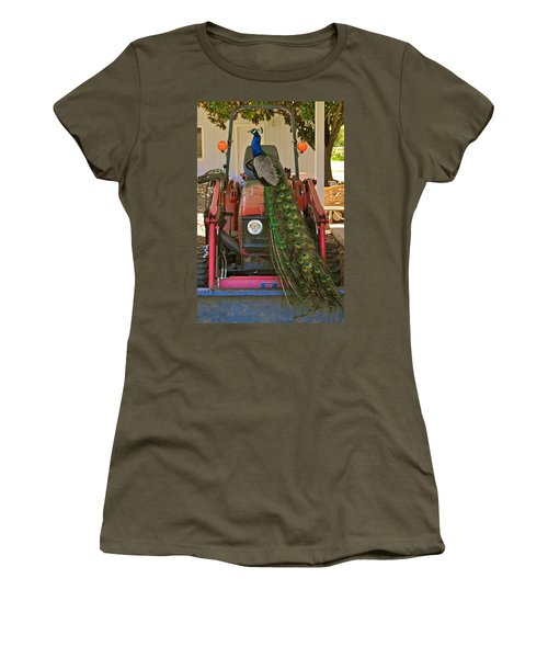 Peacock And His Ride Women's T-Shirt