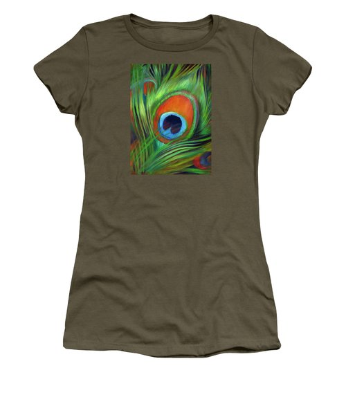 Peacock Feather Women's T-Shirt (Athletic Fit)