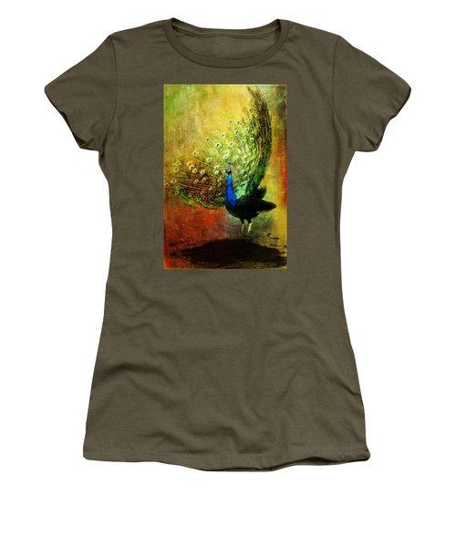 Peacock In Full Color Women's T-Shirt