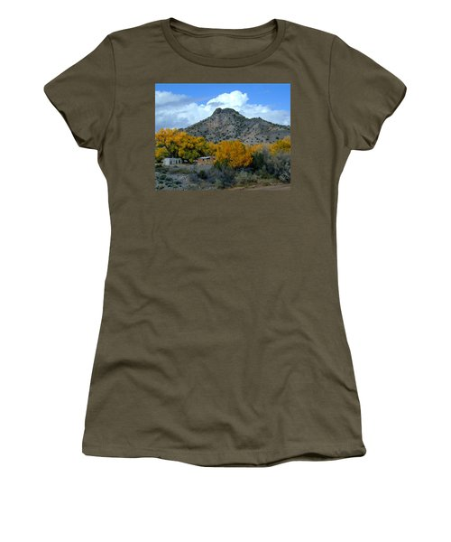 Women's T-Shirt featuring the photograph Peak Above Yellow by Joseph R Luciano