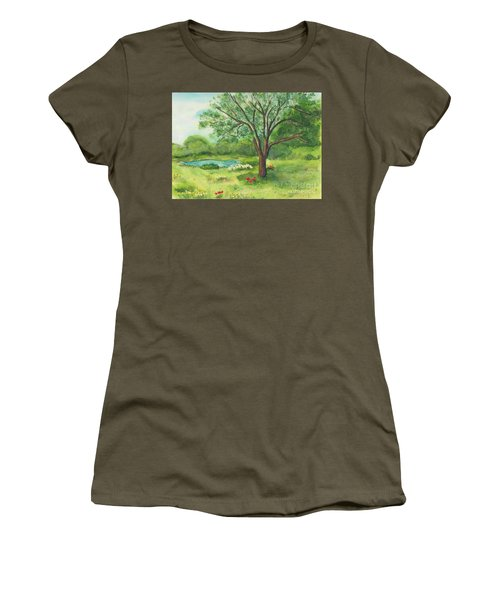 Women's T-Shirt (Junior Cut) featuring the painting Pedro's Tree by Vicki  Housel