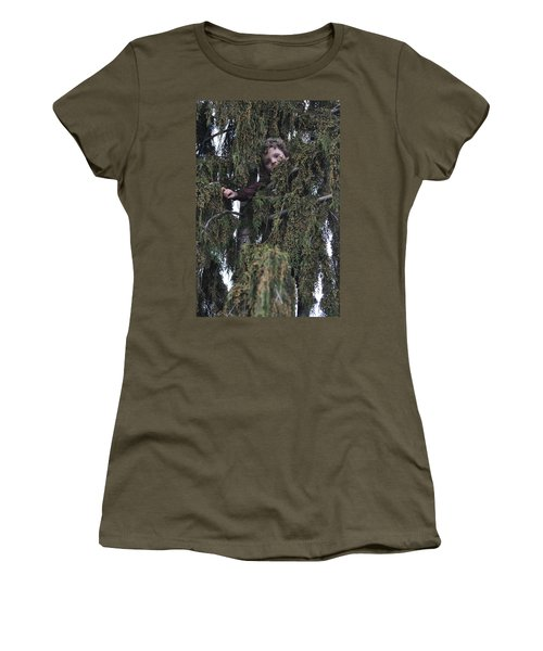 Peek A Boo Women's T-Shirt (Athletic Fit)