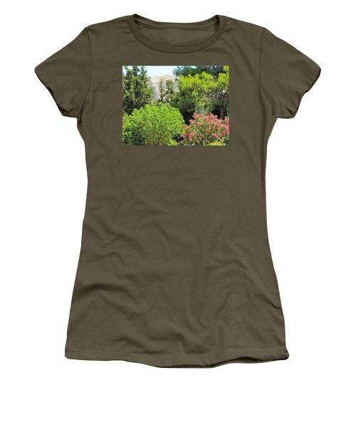 Peek Of The Parthenon Women's T-Shirt