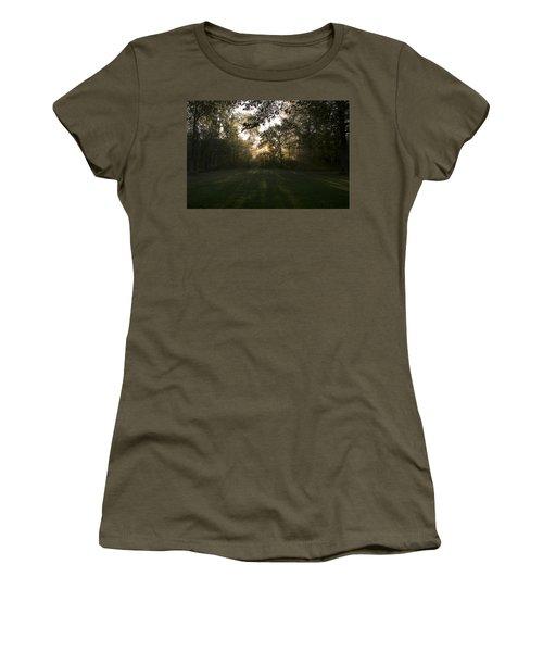 Peeking Through Women's T-Shirt (Junior Cut) by Annette Berglund