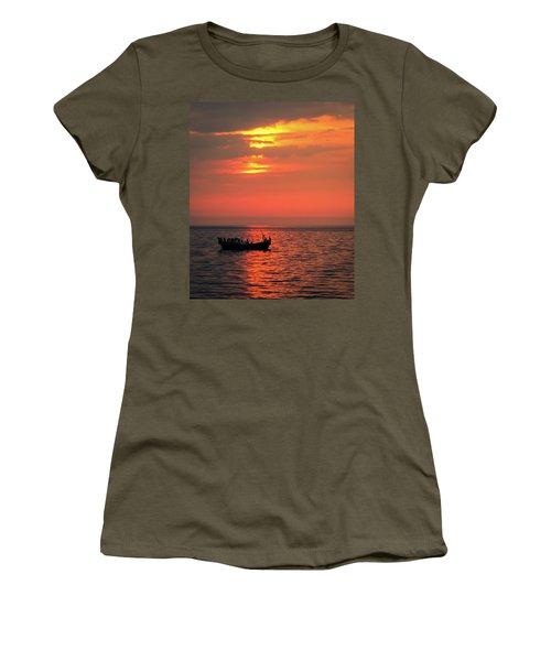 Pelicans At Sunset Women's T-Shirt