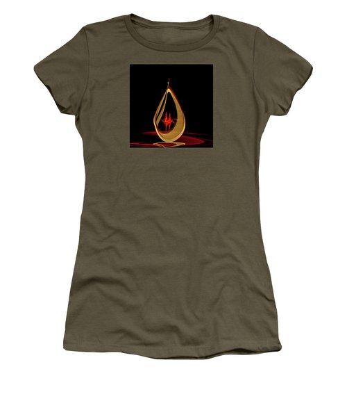 Women's T-Shirt (Junior Cut) featuring the painting Penman Original-318 by Andrew Penman