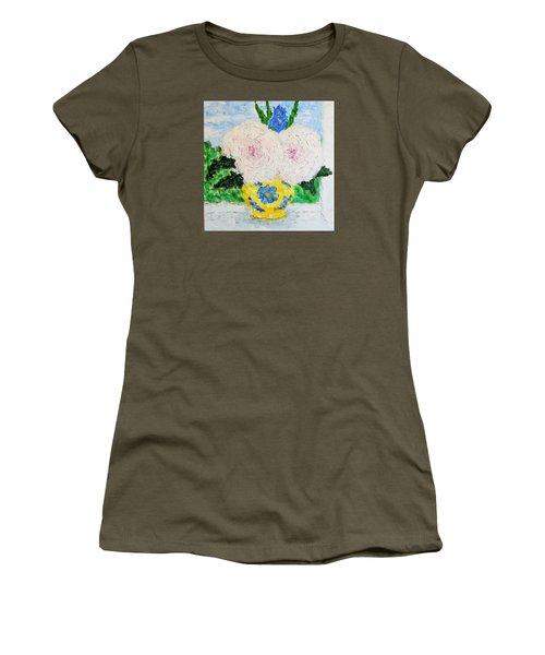 Peonies And Iris On The Window. Women's T-Shirt (Junior Cut) by Tamara Savchenko