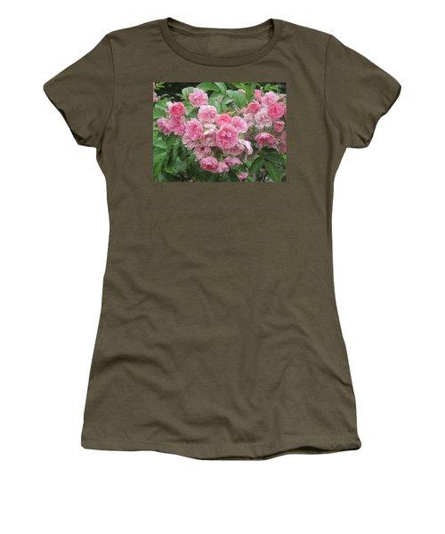 Peonies At Glen Magna Farms Women's T-Shirt (Junior Cut) by Paul Meinerth