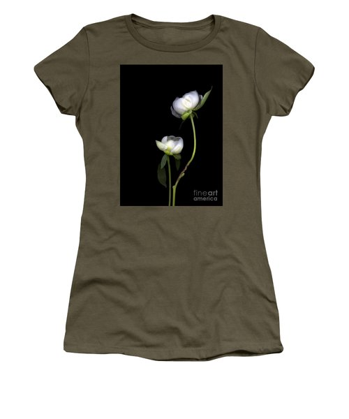 Peonies Women's T-Shirt (Junior Cut) by Christian Slanec