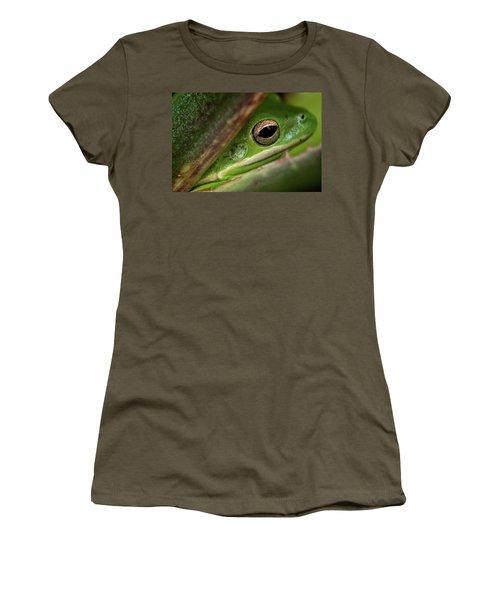 Frogy Eye Women's T-Shirt (Junior Cut) by Denis Lemay