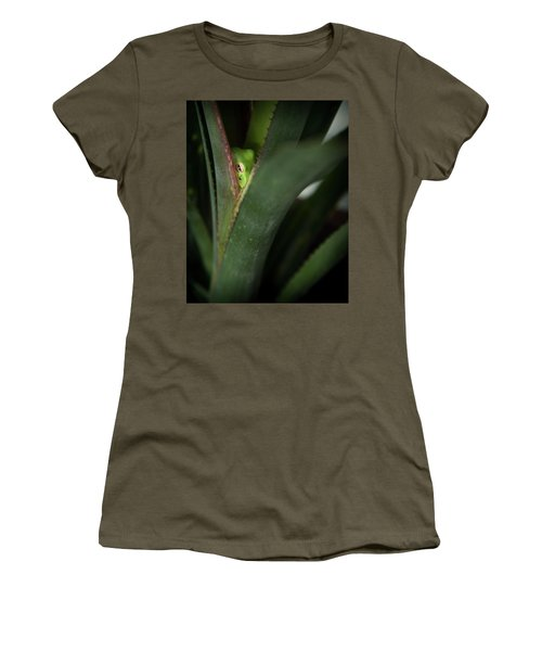Perching With Comfort Women's T-Shirt (Junior Cut) by Denis Lemay