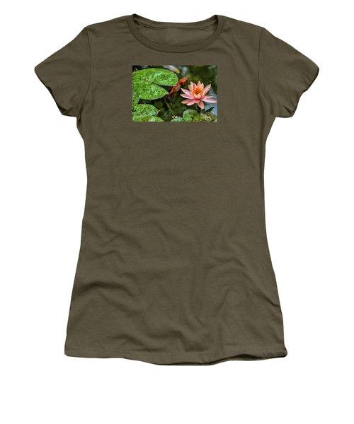 Perfect Beauty And Koi Companion Women's T-Shirt (Junior Cut) by Diana Mary Sharpton