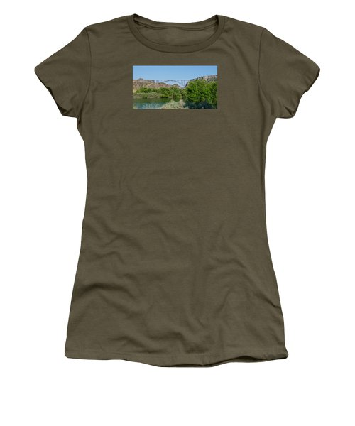 Perrine Bridge At Twin Falls Women's T-Shirt (Athletic Fit)