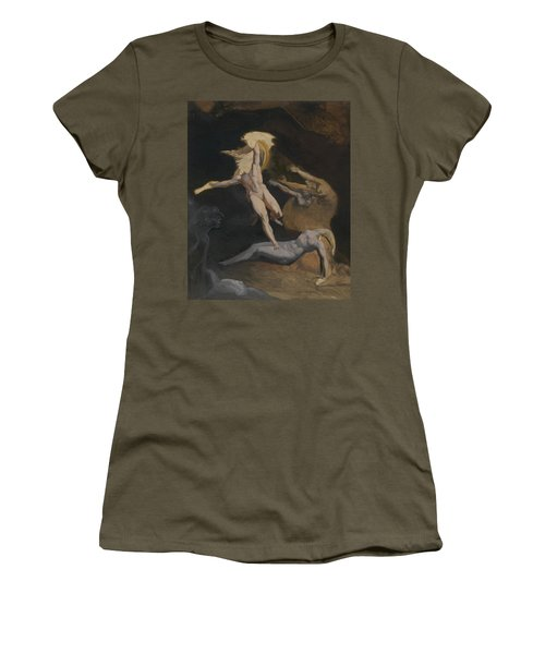 Perseus Slaying The Medusa Women's T-Shirt (Junior Cut) by Henry Fuseli
