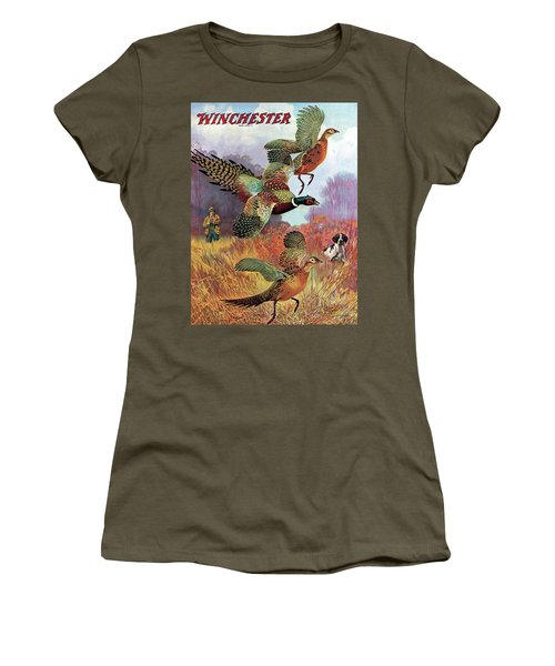 Pheasants On The Rise Women's T-Shirt (Athletic Fit)