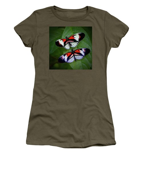 Piano Key Butterfly's Women's T-Shirt (Athletic Fit)