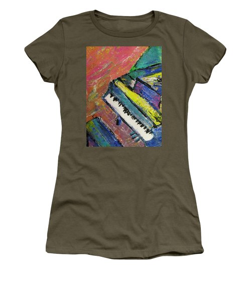 Piano With Yellow Women's T-Shirt