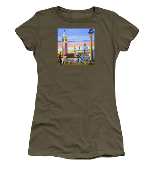 Piazza San Marco Women's T-Shirt (Junior Cut) by Donna Blossom