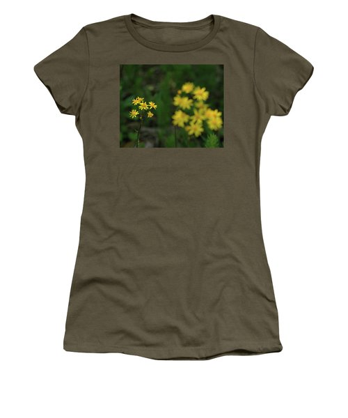 Women's T-Shirt (Junior Cut) featuring the photograph Pick Me Daisies by LeeAnn McLaneGoetz McLaneGoetzStudioLLCcom